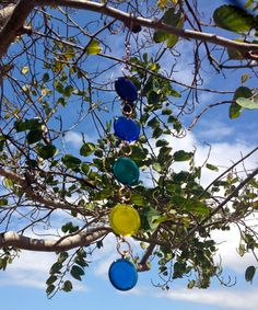 Handmade colored stained glass sun catcher by Enamel Art By Leslie on Etsy. #OutdoorLiving #SunCatcher #StainedGlass #hangingArt #OutdoorArt #outdoorDecor