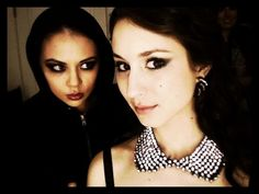 Janel Parrish and Troian Bellisario  -I was almost too scared to repin this:/