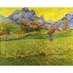 A Meadow in the Mountains: Le Mas de Saint-Paul VanGogh Oil Painting  www.OverArts.com