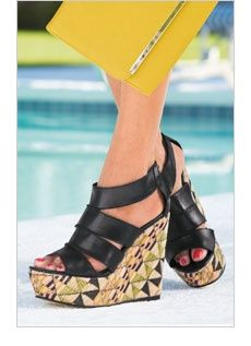 wedges! Those shoes!