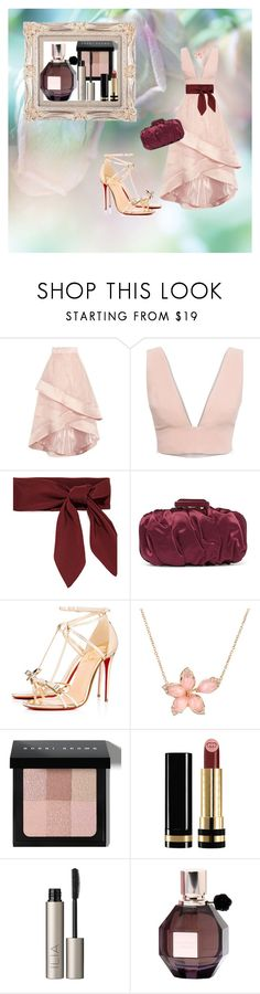 """gala"" by ritinha27 on Polyvore featuring Coast, Animale, Oscar de la Renta, Christian Louboutin, Stephen Webster, Bobbi Brown Cosmetics, Gucci, Ilia and Viktor & Rolf"