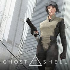 Ghost in the Shell by Adam Middleton poster Scarlett Johansson Ghost, Masamune Shirow, Robot Costumes, Motoko Kusanagi, Tough Girl, Futuristic Art, Cyberpunk Art, Ghost In The Shell, Girl Inspiration