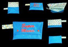 grande trousse brodé Super mamie : Trousses par babanou84