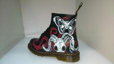Customised Dr. Martens boots by former Dr. Martens apprentice, Frankie.