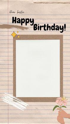 Happy Birthday Posters, Birthday Template, Muslim Girls, Instagram Story, Besties, Templates, Frame, Picture Frame, Stencils