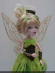 monster high custom steampunk tinkerbell (Rach Hells Doll Haus) Tags: green wings fairy steampunk customdoll monsterhigh