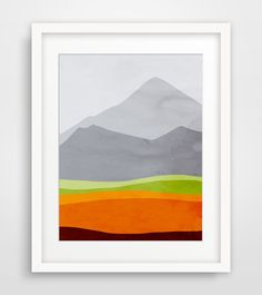 Hey, I found this really awesome Etsy listing at https://www.etsy.com/listing/164485545/mountains-modern-art-print-mid-century