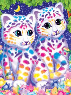 Sasha and Shanti Art Print by Lisa Frank at Art.com