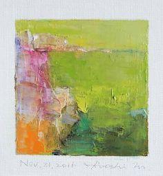 "Nov. 21, 2016 9 cm x 9 cm (app. 4"" x 4"") oil on canvas © 2016 Hiroshi Matsumoto"