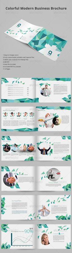 Colorful Modern Business Brochure