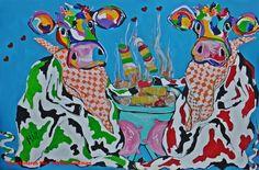 Veelzijdig kleurrijk kunstenares Mir/ Mirthe Kolkman waaronder koeienschilderes.  koe kunst art  kleurrijke koe koeienkunst kleurrijk kunstwerk koe in de wei hollandse koe gezellige vrolijke koe koeienkop cows from holland cowpainting koeienschilderij koeien schilderen dierenschilderij  hartjes grappige koeien dutch cows cowartist funny happy cows