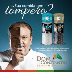 https://www.facebook.com/domconstantinsupermercado/photos/a.348474092187696.1073741828.347128492322256/368106840224421/?type=3&theater  A linha completa dos temperos UCHEF assinados por Erick Jacquin - jurado do MasterChef Brasil, você encontra aqui no Dom Constantin Supermercado! #santos #santoscity #cute #food #foodemsantos #masterchef #tompero #tempero #instafood #instalike #instagram #facebook #comida #uchef