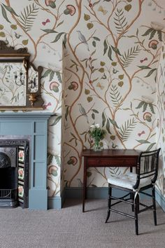 wallpaper bedroom English Charm : Master Bedroom and Dressing Room - Cool Chic Style Fashion Wallpaper Fofos, Of Wallpaper, Bedroom Wallpaper, Wall Paper Bedroom, Wallpaper Fireplace, Emoji Wallpaper, Wallpaper Ideas, Wallpaper Quotes, Interior Inspiration