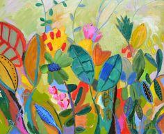 Também pintei essa tela com acrílico e pastel oleoso 90 x 110 cm