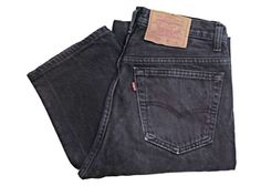 Vintage Levis 501 Jeans Canada Made Faded Black Denim W30 L34.5 by BlackcatsvintageUK on Etsy