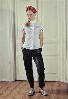 Vintage Black Leather Trousers