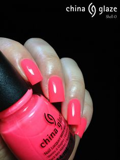 "China Glaze ""Shell-O"" fashionpolish.com China Glaze A Sunsational Neon Summer Collection Review"