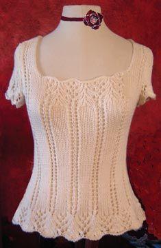 White Lies Designs Knitting Patterns | Krista Cap Sleeve Tee