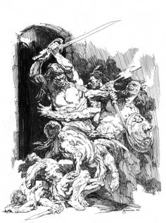 Gary Gianni provided some of the THE best illustration for the Wandering Star editions of Robert E. Howard's prose. This one works from postage stamp dimension to full size.
