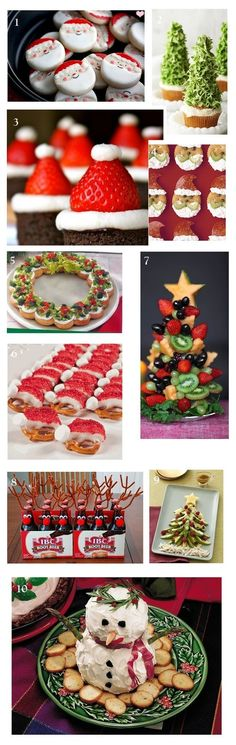 """I pinned this for the Root """"Deer""""! Easy and so cute to serve to your Christmas guests -- or better yet, impress the kids!"""