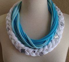 Elsa Frozen Inspired Jersey Scarf Necklace