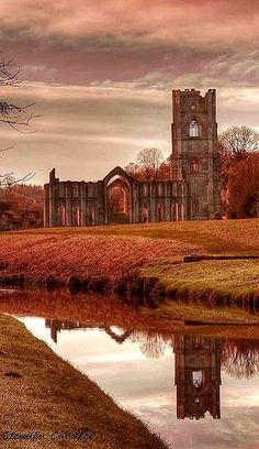 Fountain's Abbey in the Fall, North Yorkshire, England. Yorkshire England, North Yorkshire, Cornwall England, Yorkshire Dales, England Ireland, England And Scotland, Places To Travel, Places To See, The Places Youll Go