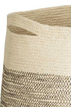 Jute laundry basket - Natural white - Home All | H&M GB