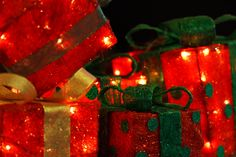 christmas pictures | Red Christmas Presents Free Stock Photo HD - Public Domain Pictures