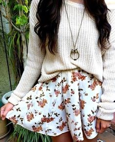 Cute dress with sweater! PERF fall outfit!