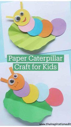 Paper Caterpillar Craft for Kids