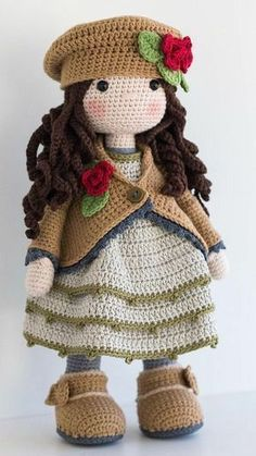 """If you have spent any time in the world of crochet then there's a good chance that you have heard the term """"amigurumi"""". Browsing through amigurumi crochet patterns, you might get a sense of what this niche of the craft is, but you may not know for su Crochet Jacket Pattern, Crochet Dolls Free Patterns, Crochet Doll Pattern, Crochet Stitches Patterns, Craft Patterns, Doll Patterns, Pattern Ideas, Crochet Doll Clothes, Crochet Toys"""