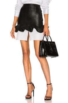 Zeynep Arcay Ruffles Mini Skirt in Black | FWRD