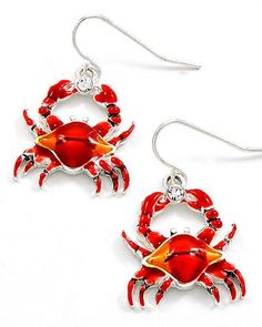 Silvertone Red Crab Dangle Earrings Fashion Jewelry PammyJ Earrings. $15.99. GORGEOUS FOR GIFTS. COMES IN FOIL GIFT BOX. LEAD COMPLIANT. CUTE CRABS. BRAND NEW. Save 45% Off!