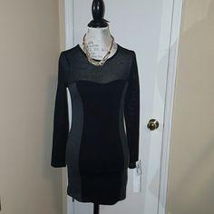 Kensie long sleeve  dress Kensie long sleeve black and gray dress! Kensie Dresses Mini