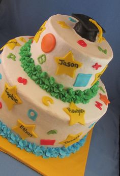 Pre-school Graduation cake, cute with all the kids names