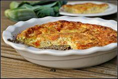 Leek and Cheddar Crustless Quiche: Recipe for a Gestational Diabetic Diet