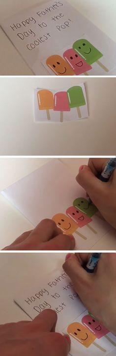 Coolest Pop | Easy Homemade Fathers Day Cards to Make | DIY Birthday Cards for Dad from Daughter