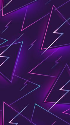 Purple with Neon Abstract Wallpaper