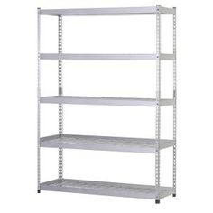 5-shelf 48 In. W X 78 In. H X 24 In. D Silver Steel Storage Shelving Unit In…