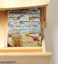 Looking for something compact for my recipe cards. This might work - after books, I'm ready to go back to index cards....