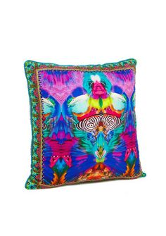 Camilla - Scarlet Asteria small square cushion 45 x 45cm