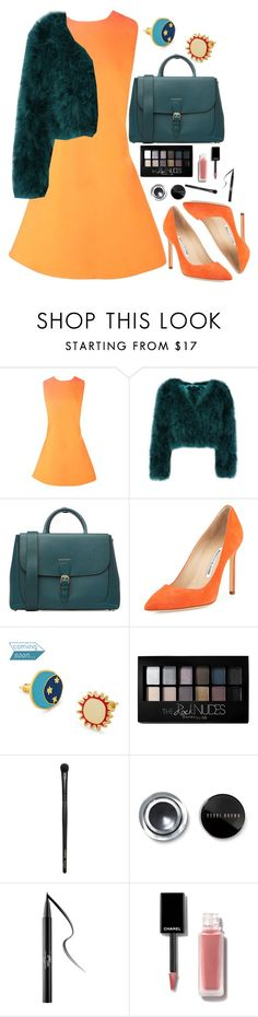"""""""Modestovna"""" by anna-modestovna ❤ liked on Polyvore featuring Boohoo, Burberry, Manolo Blahnik, Maybelline, INIKA, Bobbi Brown Cosmetics and Kat Von D"""