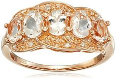 Rose Gold-Plated Silver Morganite and Diamond Accented 5 Stone Ring, Size 7 Amazon Collection http://www.amazon.com/dp/B011RIPXVY/ref=cm_sw_r_pi_dp_bUM1wb141JX7Z