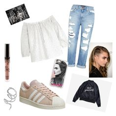 """Fangirl day "" by sofiacarbonie on Polyvore featuring Genetic Denim, Madewell, adidas, Justin Bieber, Casetify and Jennifer Fisher"