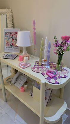 Pastel Room Decor, Indie Room Decor, Cute Room Decor, Aesthetic Room Decor, Pastel Bedroom, Room Design Bedroom, Room Ideas Bedroom, Bedroom Decor, Bedroom Inspo