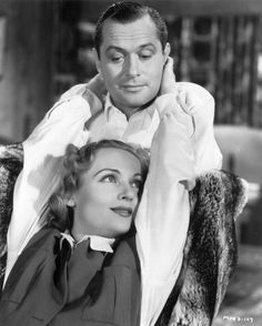 Publicity still for Mr and Mrs Smith - Alfred Hitchcock 1941Robert Montgomery and Carole Lombard