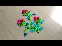 YouTube Rangoli Designs Flower, Small Rangoli Design, Colorful Rangoli Designs, Rangoli Designs Diwali, Beautiful Rangoli Designs, Kolam Designs, 3d Rangoli, Rangoli Ideas, Indian Rangoli