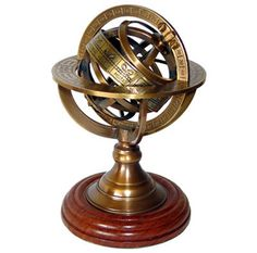 Terrestrial Armillary Sphere World Zodiac Globe