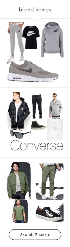 """brand names"" by jason-becz ❤ liked on Polyvore featuring NIKE, men's fashion, menswear, Converse, Balmain, Gap, Topshop, adidas Originals, Jacob Cohёn and Fila"