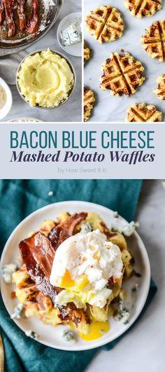 Bacon Blue Cheese Mashed Potato Waffles